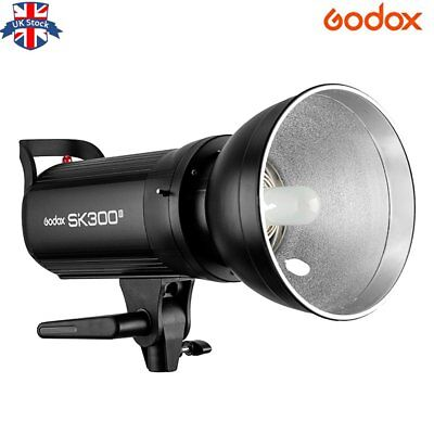 UK Godox SK300II 2.4G 300w Photography Studio Flash Strobe Lamp Light Head 220V