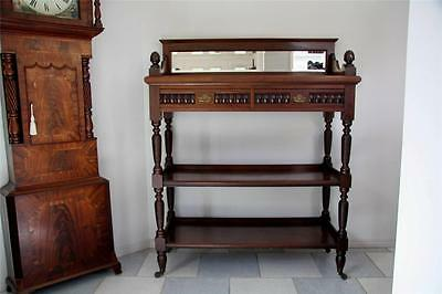 Antique Edward Vii Mahogany Dumbwaiter/buffet Of Large Proportions Circa 1905