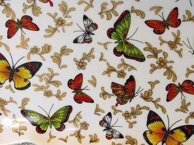 Baum Brothers  Formalities BUTTERFLY COLLECTION Vanity/ Trinket  Tray White Gold