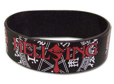 **Legit** Hellsing Ultimate Symbol Logo Authentic Anime PVC Wristband #54066