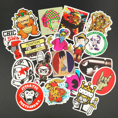 Popular Cool 50pcs Stickers Skateboard Sticker Graffiti Laptop Luggage Car Decor