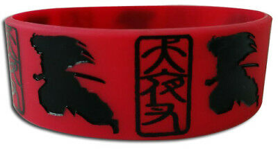 **Legit** Inuyasha Inu Yasha Silhouette Red Authentic PVC Wristband #54070