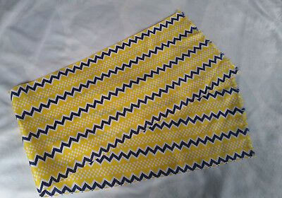 Blue and Yellow Retro Scarf Polyester Oblong Scarf Retro Vintage Scarf