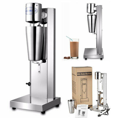 Milkshake Maker Drink Machine Cup Stainless Steel Shake Frother Home Kitchen