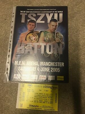 Ricky Hatton v Kosta Tszyu boxing fight programme + ORIGINAL FIGHT TICKET