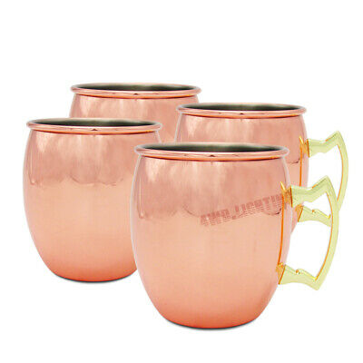 4PCS Moscow Mule Copper Mug 19oz Drinking Home Party Cocktails Wine Cup