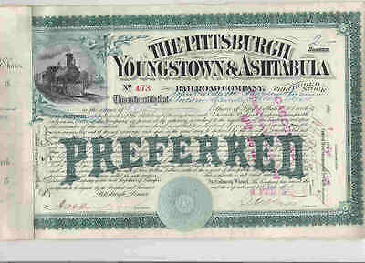Pittsburgh, Youngstown and Ashtabula RR Co., 1889, preferred