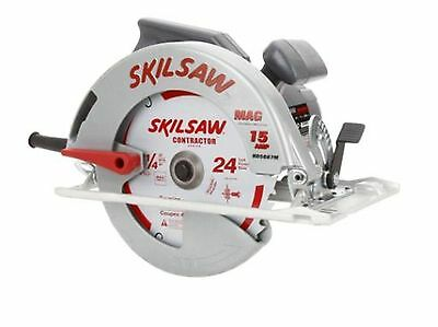 15 Amp 7-1/4 in. Corded Magnesium Circular Saw Keyed Blade Change Power Tool Red