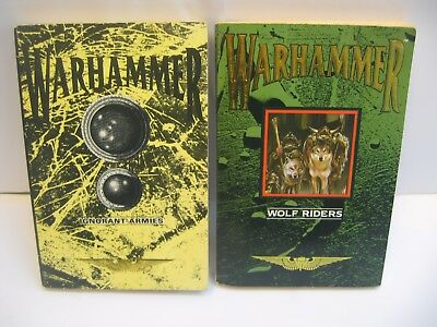 Wolf Riders & Ignorant Armies Vintage Warhammer Novels 1989/90 First Editions