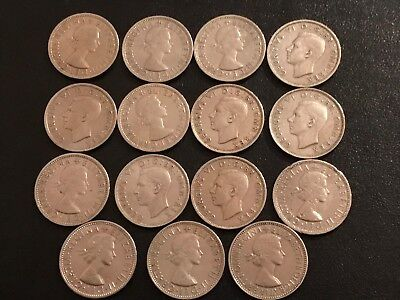15 X Silver British 2 Shilling coins at least $150 in silver scrap