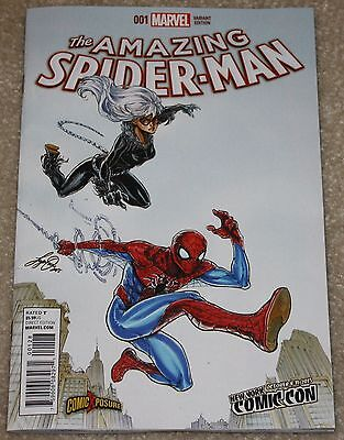 AMAZING SPIDER-MAN VOL 4 # 1 SIYA OUM NYCC EXCLUSIVE VARIANT 1st PRINT BLACK CAT