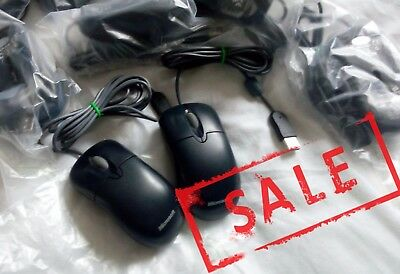 3x Genuine Microsoft 2.1 Optical USB Wired Mouse PC Laptop Office Black BLK