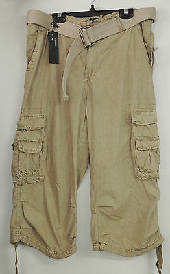 Crop pants Buffalo David Bitton Sz 36 Color beige with tags
