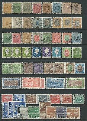 Collection of Iceland mostly fine or good used stamps.