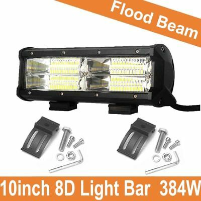 10inch 288W 28800LM 8D LED Work Light Bar Flood Driving Lamp SUV ATV Offroad 4WD