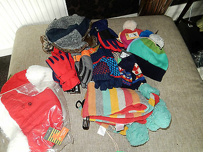 Job Lot Of John Lewis Childrens Scarves Hats Gloves Girls Boys 18 Items Rrp£173