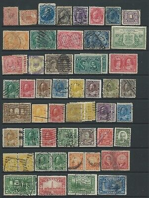 4 scans of mostly good used Canada stamps.
