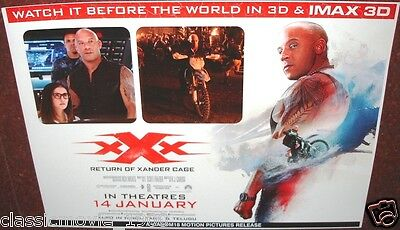 Xxx Return Of The Zander Cage (2017) Original 4 Lobby Cards