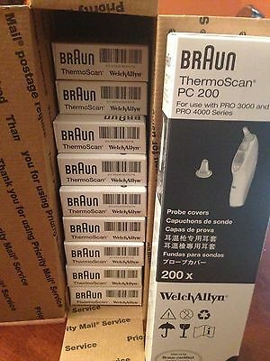 Braun ThermoScan PC 200 Probe Covers, 7 Boxes of 200 NEW Sealed!