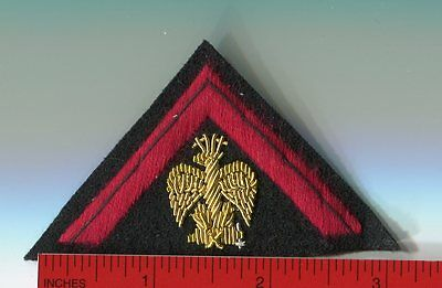 Italian Hat Triangle Badge for Officers of the Black Shirts small