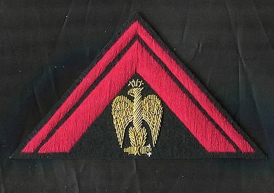 Italian Hat or Sleeve Triangle Badge for Officers of the Black Shirts