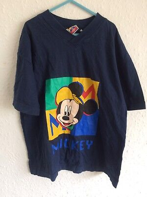 Vintage Kids Mickey Mouse Retro Disney 90s T Shirt Top 5-6-7 Y