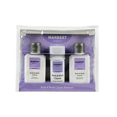 Marbert Bath & Body Classic Reiseset Duschgel Deo Bodylotion  (6,23 EUR/100 ml)