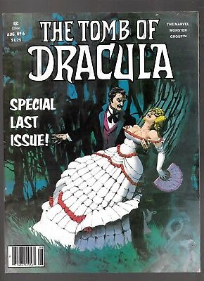 TOMB OF DRACULA 6 1980 Marvel Comics Colan Palmer Severin  LAST ISSUE  Xclnt!