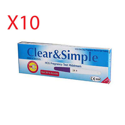 Clear & Simple Pregnancy Test Kit x10