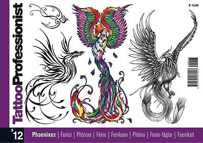 Inspire Uk  Tb42 Professionist 12 Pheonix Tattoo Flash Designs Uk Stockist