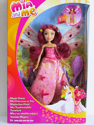 Mattel CMM63 Mia and Me Magisches Kleid - Puppe Mia