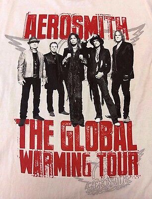 Aerosmith Global Warming Tour 2012 Concert T-Shirt Rock Band Mens XL