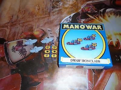 1993 Games Workshop Man O'war~3 Dwarf Ironclads Vessels~Unpainted,vhtf