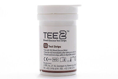 TEE2 test strips x 50 for TEE2 blood glucose meter. Brand new in box