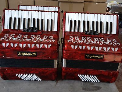 Stephanelli 48 Bass Accordion - New 2017/18  Elite Model - German Reeds