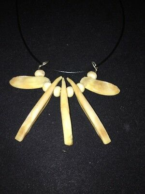 REAL wild boar tusk tooth teeth tribal necklace