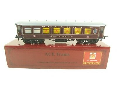 Ace Trains O Gauge C27 PM Metropolitan Mayflower Pullman Coach Bxd Lit Interior