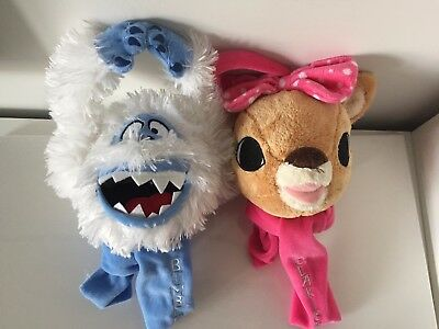 Rudolph the Red-Nosed Reindeer Plush Toy Door Knob Hangers Bumble & Clarice