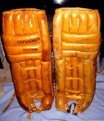 Canadien CUSTOM 99XL Vtg Hockey Goalie Goalkeeper Leather Pads 32""