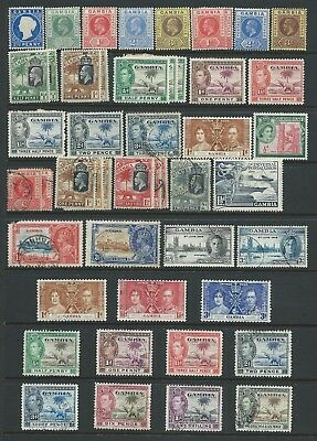 Collection of mounted MINT & mostly good used Gambia stamps.