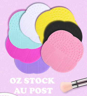 Makeup Cosmetic Brush Cleaner Cleanser Washing Silicone Pad Mat Scrubber Board