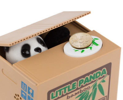 Cute Panda Thief Money Bank Toys - Automatic Stole Coin