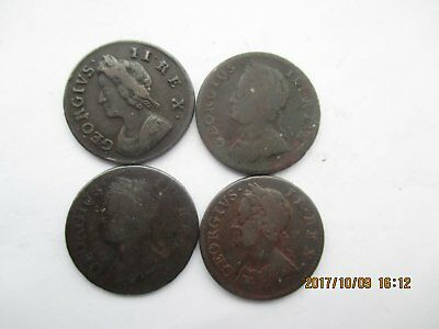 George 11 Farthings 1739,1741,1744,1746