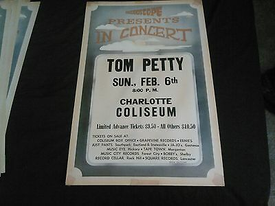 Tom Petty  Charlotte     Boxing Style Concert Poster