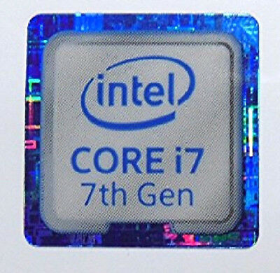 Intel Core i7 7th Gen blue18mm x18mm Metallic Stickers 7 vinyl 10 8 Windows