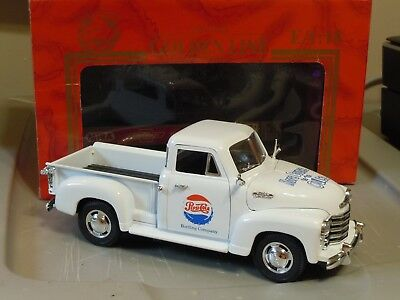 "Mira 1953 Chevrolet Pickup white 1:18 ""Pepsi"""