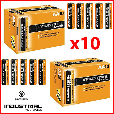 10x Duracell Industrial AA Alkaline Batteries Replaces Procell MN1500 1.5V LR6