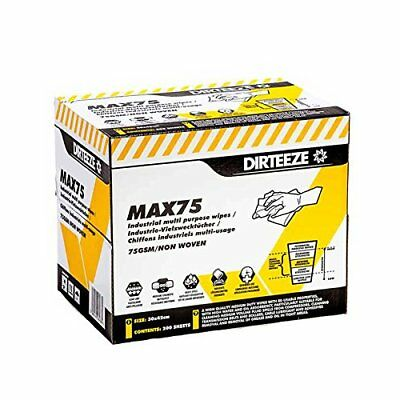Multi Purpose Non-Woven Cleaning Wipes, Wiping Rag MAX75 by DIRTEEZE - 200