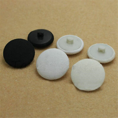 30pcs 10-30mm Plastic Shank Buttons Sewing Scrapbooking Round Cloths Crafts DIY