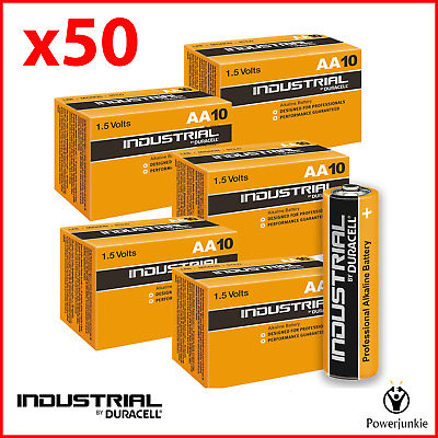 50x Duracell Industrial AA Alkaline Batteries Replaces Procell MN1500 1.5V LR6
